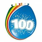 8 stuks ballonnen 100 jaar