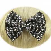 Haarklem strikje zwart