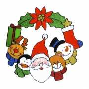Kerst raam decoratie 30 cm