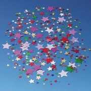Gekleurde confetti snippers sterren
