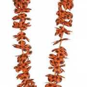 Hawaii krans met oranje voetballen