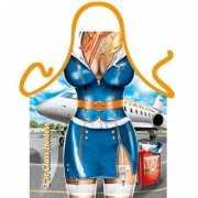 Funny BBQ schorten Stewardess