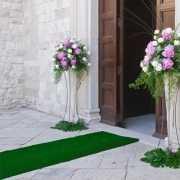 Groene decoratie loper 1 meter breed