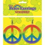 Carnavals hippie oorbellen