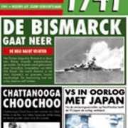 Verjaardag kaart met nieuws uit 1941