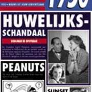 Verjaardag kaart met nieuws uit 1950