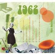Verjaardagskaart met muziekhits uit 1962