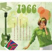 Verjaardagskaart met muziekhits uit 1966