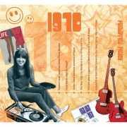 Verjaardagskaart met muziekhits uit 1970