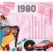 Verjaardagskaart met muziekhits uit 1980
