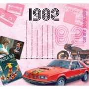 Verjaardagskaart met muziekhits uit 1982