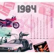 Verjaardagskaart met muziekhits uit 1984