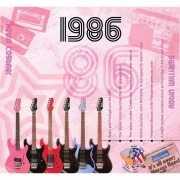 Verjaardagskaart met muziekhits uit 1986