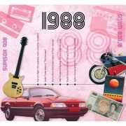 Verjaardagskaart met muziekhits uit 1988