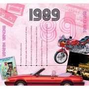 Verjaardagskaart met muziekhits uit 1989