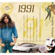 Verjaardagskaart met muziekhits uit 1991