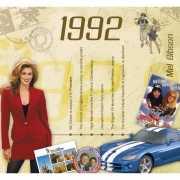 Verjaardagskaart met muziekhits uit 1992