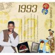 Verjaardagskaart met muziekhits uit 1993