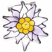 Edelweiss bloem speld met lichtje