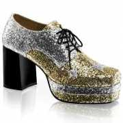 Rock heren schoenen zilver met goud