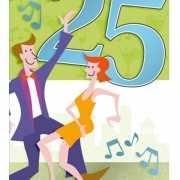 Groene verjaarkaart 25 jaar
