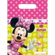 Feestzakje met Minnie Mouse plaatjes 6 stuks