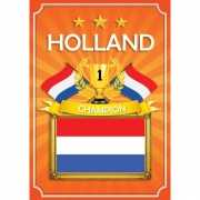 Oranje Holland deurposter