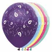 Verjaardag 6 jaar helium ballonnen