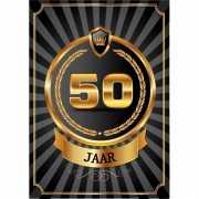 Decoratie poster 50 jaar zwart en goud