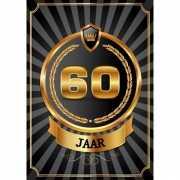 Decoratie poster 60 jaar zwart en goud