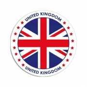 Sticker met Engelse vlag