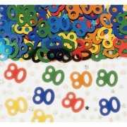 80 jaar verjaardags confetti