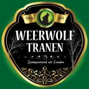 Horror thema Weerwolf fles etiketten