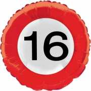 Folie ballon cijfer 16