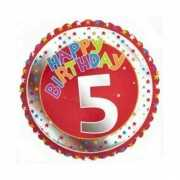 5 jaar helium ballon Happy Birthday