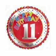 11 jaar helium ballon Happy Birthday