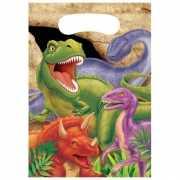 Kinderfeestje dinosaurus feestzakjes 8 stuks