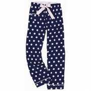 Pyjamabroek blauw met stippen