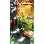 Camouflage speelgoed pistool 28 cm
