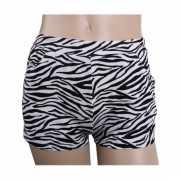 Zebra print hotpants voor dames