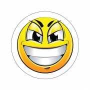Deurstickers Smiley type 7