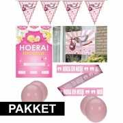Geboorte feestartikelen Girl pakket