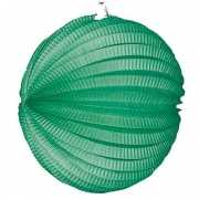 Lampion in groene kleur 22 cm