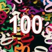 Confetti 100 jaar decoratie