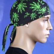 Bandana met cannabis print