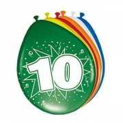 Feestartikelen 10 jaar ballonnen