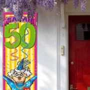 Sarah 50 jaar banier versiering
