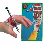 Bouwvakkers pech spijker in hand
