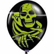 Horror ballonnen met skelet 8 stuks