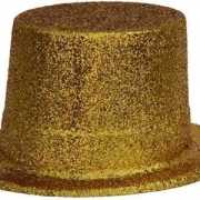 Hoge hoed in de kleur goud
